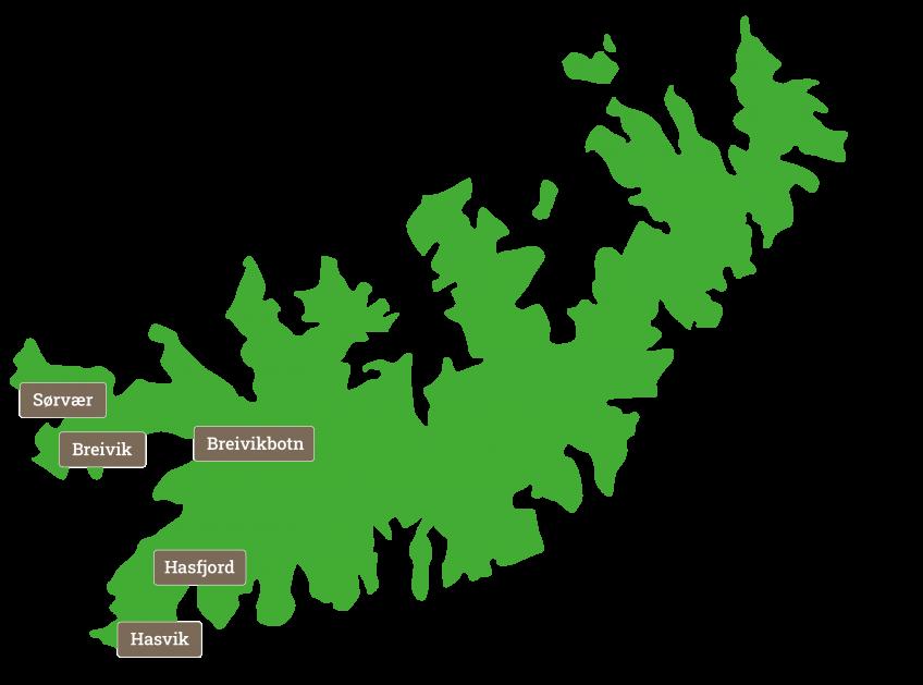Kart over Sørøya